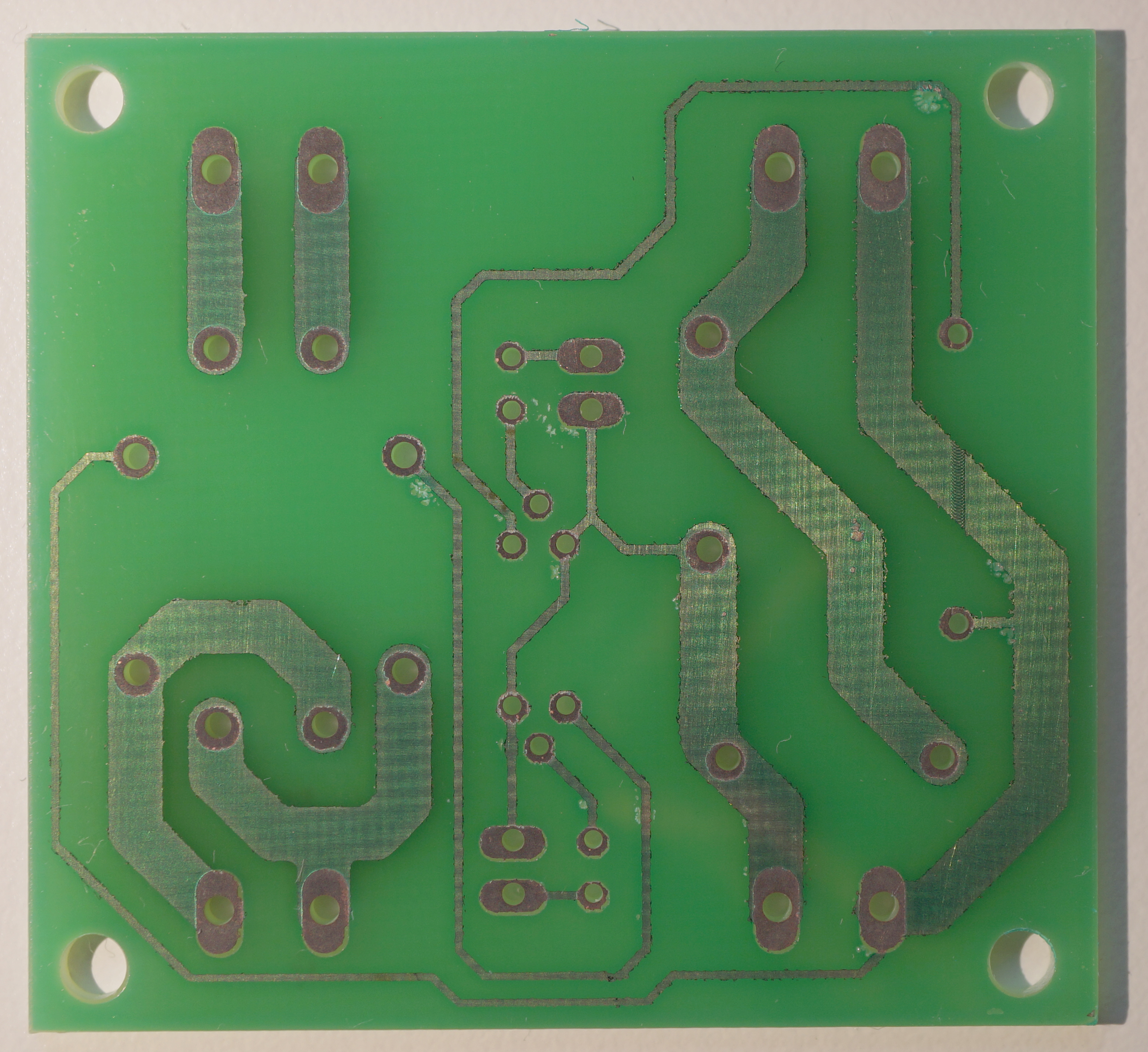 Producing PCBs using photolithography — whitequark's lab