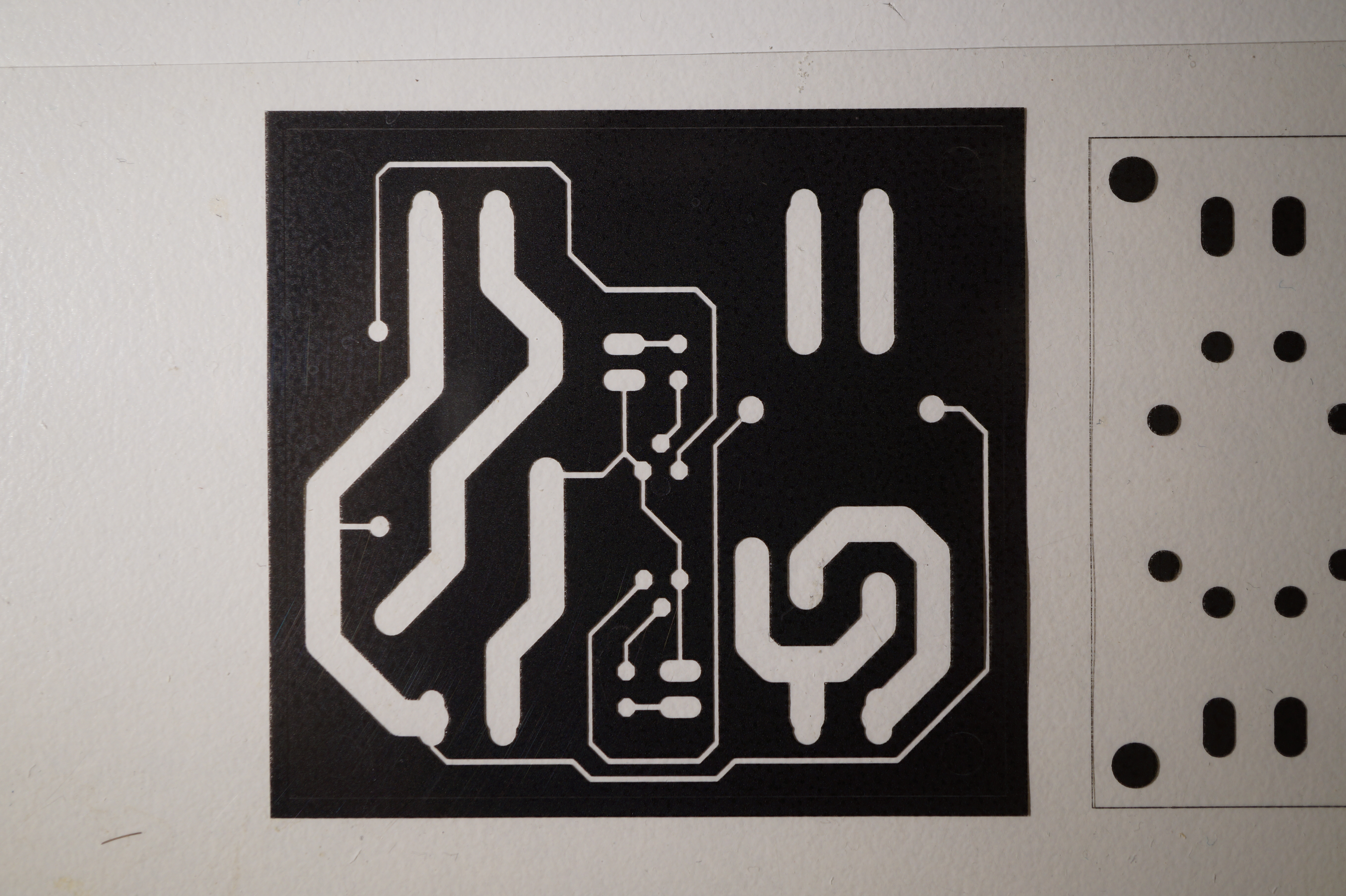 Producing Pcbs Using Photolithography Whitequarks Lab Notebook Circuit Boards With Eagle Make Highquality At Low Cost Preparation Every Step Of Handling Pcb